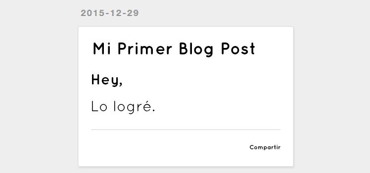 Mi primer blog post